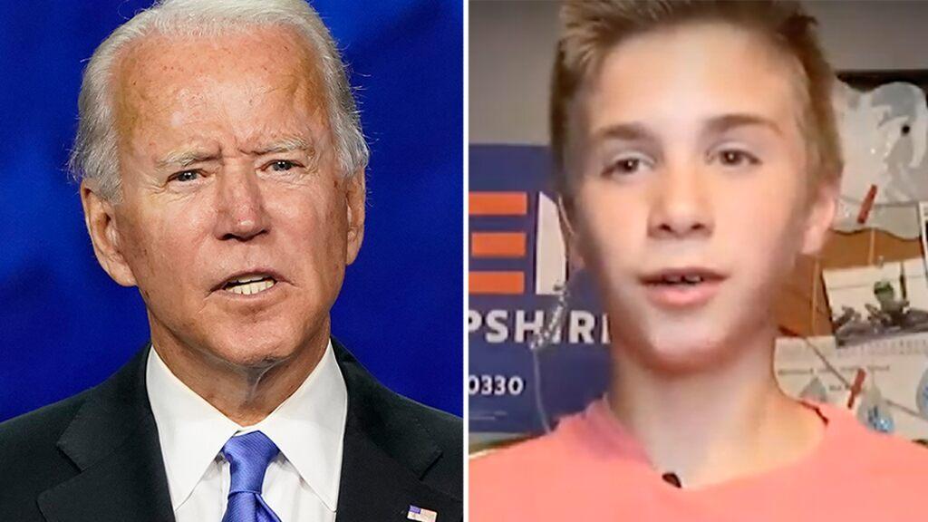 Teen follows Biden's advice on living with a stutter, delivers rousing DNC speech
