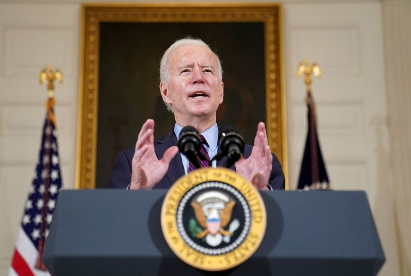 Biden says coronavirus relief should be limited to making less than $250,000