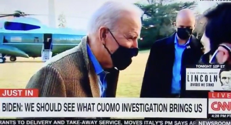"""""""I Think the Investigation is Underway and We Should See What it Brings Us"""" – Biden When Asked if Gov Cuomo Should Resign (VIDEO)"""
