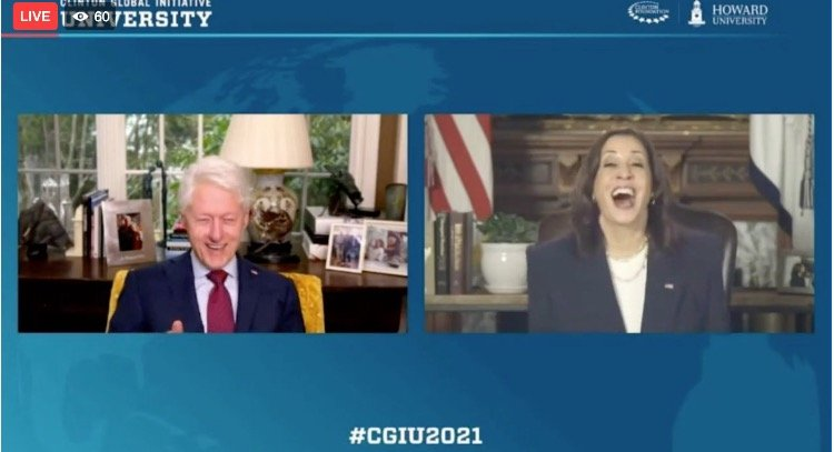 Beyond Parody: Kamala Harris and Epstein Pal Bill Clinton Host Event on 'Empowering Women' (VIDEO)