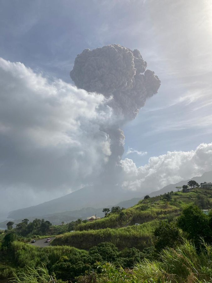 UPDATED - It Begins: Only COVID Vaccinated People Can Be Evacuated from Volcano Stricken Caribbean Island of St. Vincent