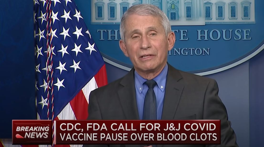 """Dr. Fauci Warns Women Who Took J&J Vaccine to """"Be Alert for Symptoms"""" After Reports of Blood Clots – But Please Continue to Get Your Vaccine"""