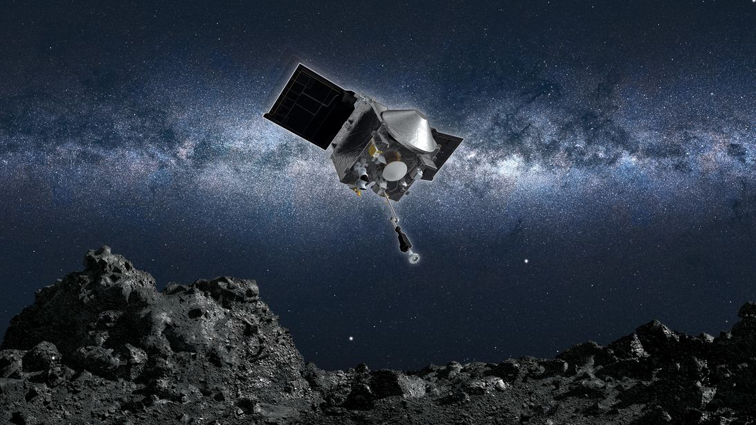 NASA's Osiris-Rex landed on a potentially hazardous asteroid. Today it heads home with a sample